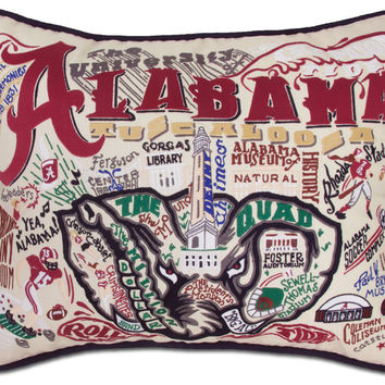 University of Alabama Embroidered Pillow