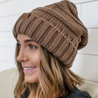 Let It Snow Beanie - Mocha