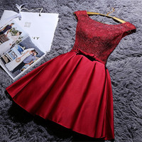 cute wedding dress homecoming dress lace dress party dress
