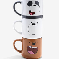 We Bare Bears Stacked Mug Set