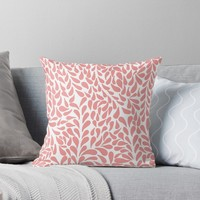 'Elegant Abstract Blush Drops Pattern' Throw Pillow by oursunnycdays