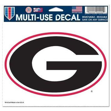 "Licensed Georgia Bulldogs Official NCAA 4.5"" x 6"" Car Window Cling Decal UGA by Wincraft KO_19_1"