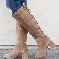 Breckley Lace-Up Boots (Mocha)