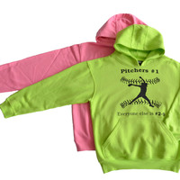 Softball Solid Sweatshirt - Pitcher Logo