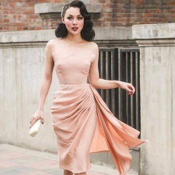 DCCKON3 Lady sexy spring summer autumn office work formal dinner holiday ball party night club out vintage ceremony tight hip dress