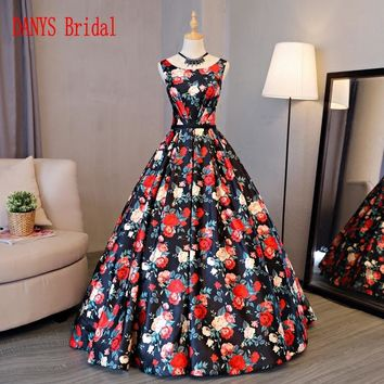 Floral Quinceanera Gown