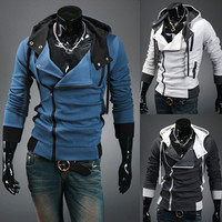 Biker Zip Trendy Men New Fashion Hoodie Jacket