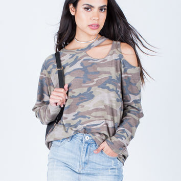 Army Cut Out Top