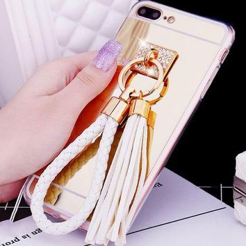 Phone Cases with White Rope Key Chain For iPhone 7 / Plus