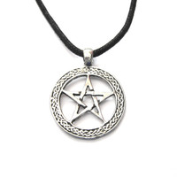 Pentacle Power Cord Necklace