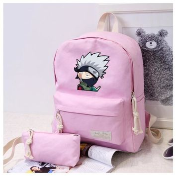 Anime Naruto Cosplay Male and female students cute casual fashion backpack multi-functional backpack