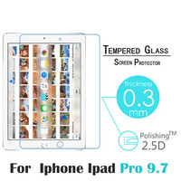 2016 New Hot Screen Protector for iPad Pro 9.7 inch 9H High Definition HD Tempered Glass Screen Protector for iPad Pro 9.7""
