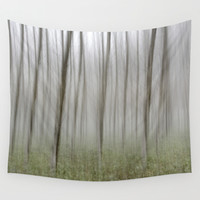 """Foggy Wood"" Wall Tapestry by Guido Montañés"