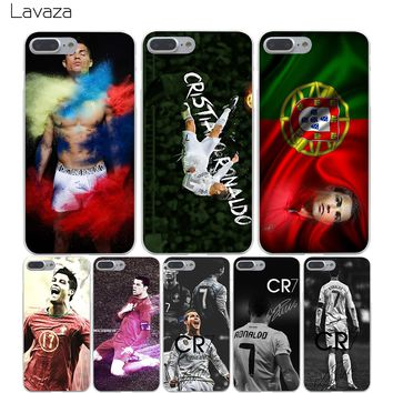 Lavaza High Quality Phone Cases CR7 Cristiano Ronaldo Hard Transparent Cover Case for iPhone X 10 8 7 6 6S Plus 5 5S SE 5C 4 4S