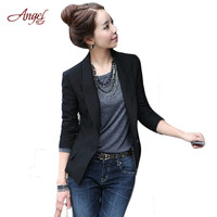 2016 New European Women Slim Casual Business Blazer Jackets Suit One Button Slim Ladies Blazer Work Wear Blaser Outwear Cardigan