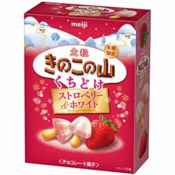 Meiji Rich Mushroom Mountain -- Strawberry & White
