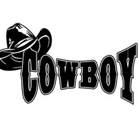 Cowboy Decal Cowboy Car Decal Cowboy Vinyl Decal Cowboy Sticker Custom Car Decal Truck Decal Vehicle Auto Decal Cowboy Decal Cowboy hat