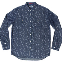 Altru Apparel Heavy Showers Button up Collared Print Shirt (Only S & L)
