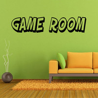 Fun Lettering Game Room Wall Decal *Choose Size & Color* Game Room Vinyl Wall Decal Home Decor Gamer Video Games - Lettering Decals