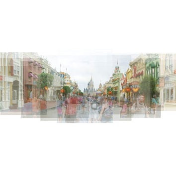 Main Street U.S.A. - Magic Kingdom - Disney World - photograph, travel photography, wall art, Cinderella Castle, Disney print, Disney art