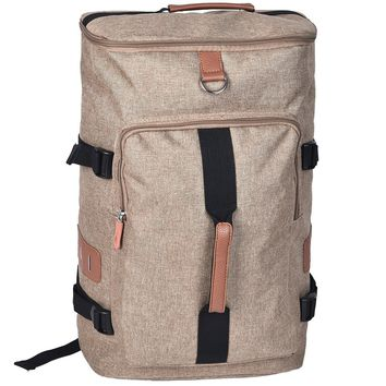 Border Convertible Backpack and Duffle Bag - Camel Brown