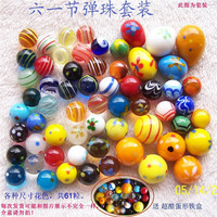 38Pcs/ lot 12 colors fancy glass marble  balls home decoration vases aquarium children's gift toy Christmas gift free shipping