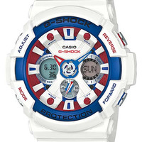 Casio G-Shock Big Case - Tri-color Maritime - White Resin Strap - Anti-Magnetic