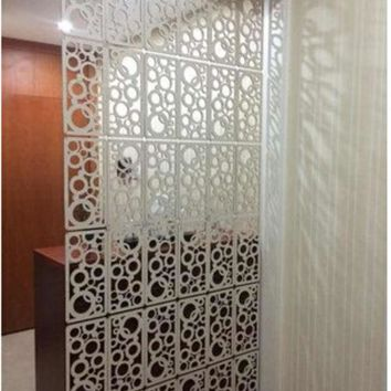 DCCKL72 Fashion hanging screen Carved WPC entranceway partition Room dividers Home decoration