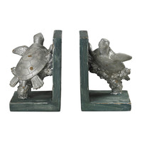 Swimming Turtle Bookends
