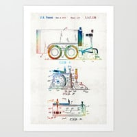 Vintage Hockey Art - Zamboni Patent - Sharon Cummings Art Print by Sharon Cummings