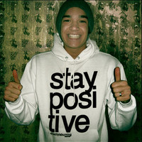 Stay Positive Hoodie (White)