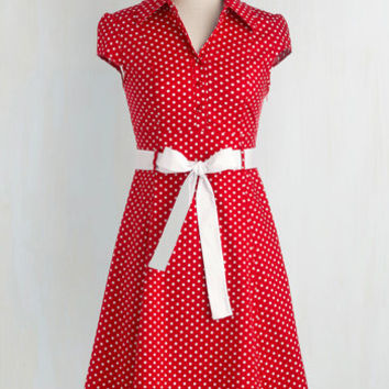 Rockabilly Mid-length Cap Sleeves A-line Hepcat Soda Fountain Dress in Cherry