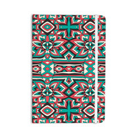 "Pom Graphic Design ""Ethnic Floral Mosaic"" Teal Red Everything Notebook"