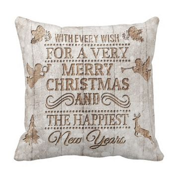 Rustic Merry Christmas Pillow
