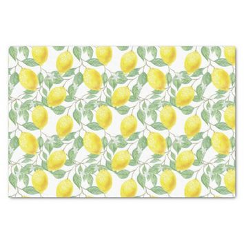 Lemon vine tissue paper
