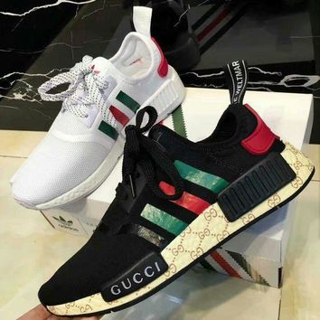 Trendsetter ADIDAS x GUCCI NMD Women Men Fashion Breathable Running Sneakers Sport Sho