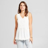 Women's Lace Front Tank - Knox Rose™ Ivory
