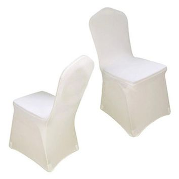 White Universal Spandex Chair Covers China For Weddings Decoration Party Chair Covers Banquet Dining Chair Covers 1 Piece