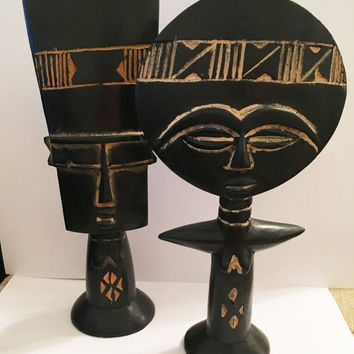 African Wood Statues, Fertility Goddess, African Wood Carvings, Primitive Carvings, Hand Carved Statues, African Deity, African Gods