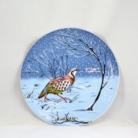 12 Days of Christmas Plate 1970 A Partridge in a Pear Tree Haviland Limoges France - Vintage Christmas Decor