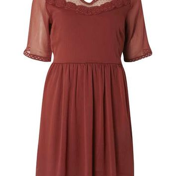 **Vero Moda rust lace dress - View All New In - New In