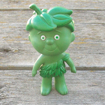 Vintage Jolly Green Giant Little Sprout Rubber Vinyl Doll 1970s