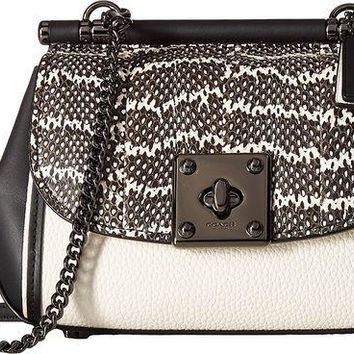 Coach Womens Genuine Snake Drifter Crossbody