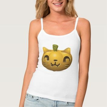 Cute Halloween Pumpkin Spaghetti Strap Tank Top