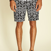 Tribal-Inspired Chino Shorts