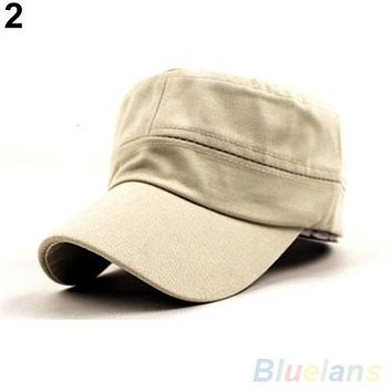 2016 Hot Sale Women Men Fashion Summer Adjustable Classic Army Plain Vintage Hat Berets Baseball Caps  1QCI 4NGN 7EJA
