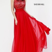 Full Length High Neck Gown by Sherri Hill
