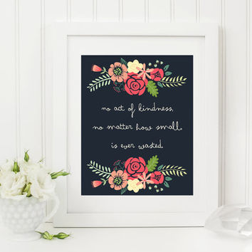 Aesop quote, kindness quote printable, inspirational quote printable nursery art, kids wall art, nursery quote, classroom quote