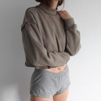 Raw Detail Crop Sweater