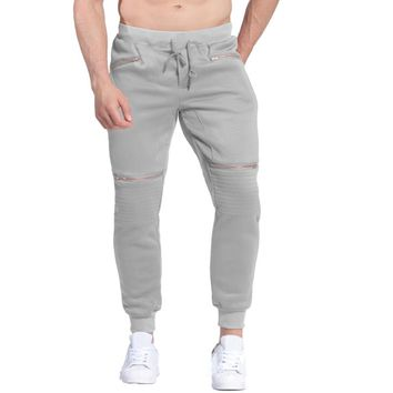Men Pants Fleece Liner Autumn Winter Plus Size Fashion Sweatpants Casual Warm Long Trousers Hip Pop Harem Pants Tracksuit 3XL